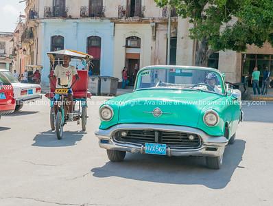 Taxi styles on Havana street,