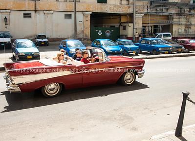 American classic car, well restored in Havana.
