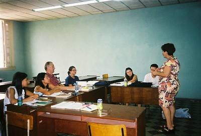 Spanish class at the University of Havana