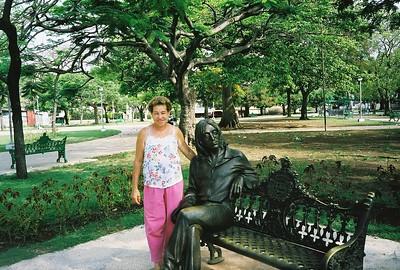 Havana resident with John Lennon