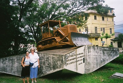 The bulldozer that wrecked the tracks that wrecked the train....