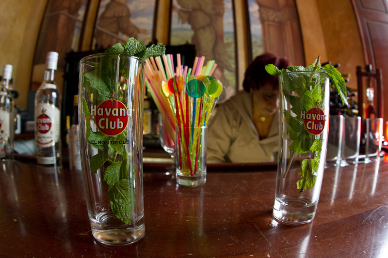 Mojito, ready to be loaded with the Rum of your choice.