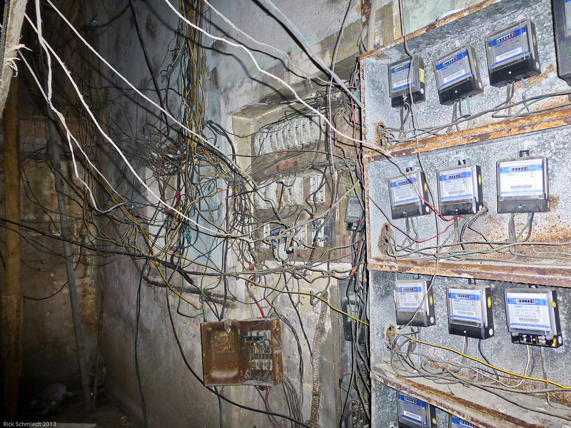 Typical wiring in the city dwellings....