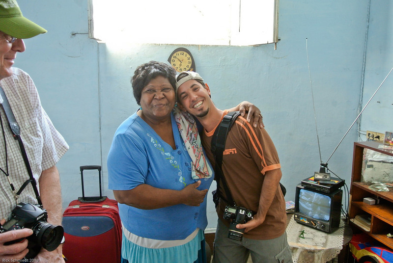 Eduardo our Cuban Photographer and the lady of the house
