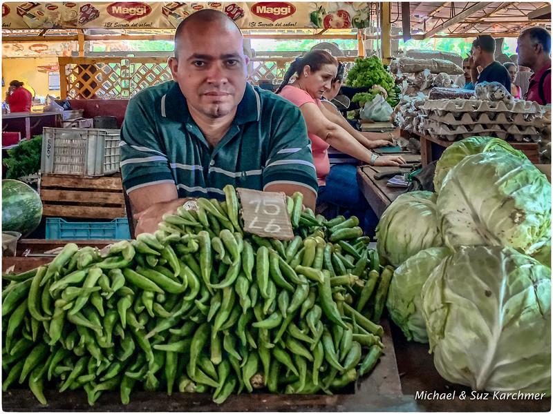 Okra Vender at Neighborhood Farmer's Market