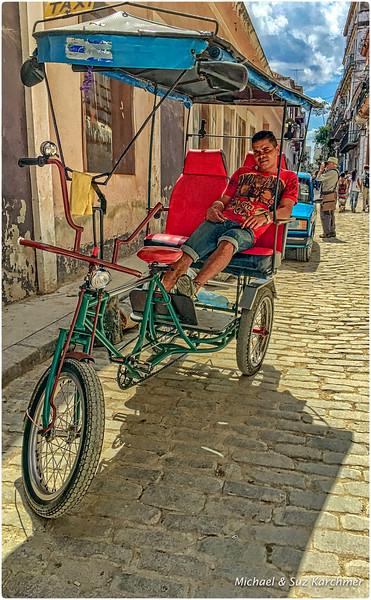 Pedicab in Old Havana