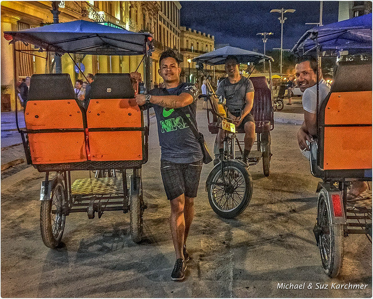 Pedicab Drivers Waiting for Riders