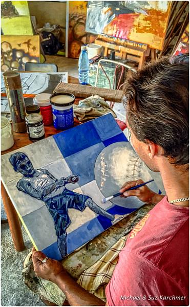 Arts Yordanis Garcia Delgado in shared studio near Craft Market