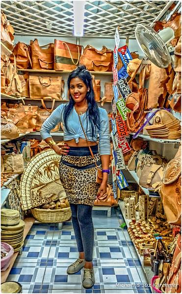Leather Vender at Craft Market