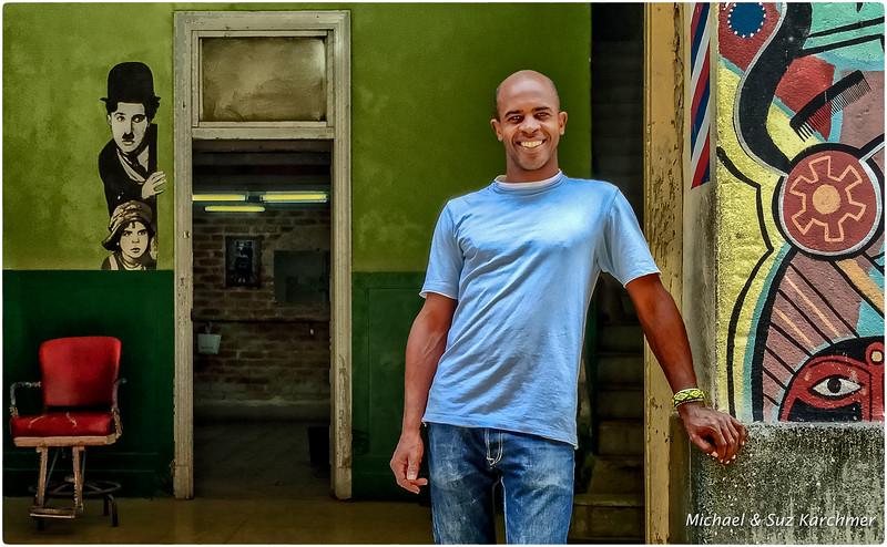 Barber in Old Havana