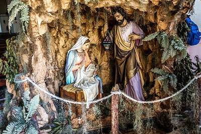 Nativity scene in the Church of San de Dios