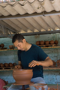 We visited the pottery studio of Carlos Alberto Cassanova and his son.  We got a demonstration from both father and son.