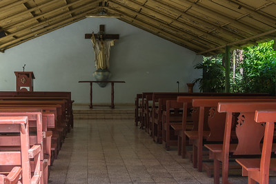 Since there is no church near where they live, the Casanova family built this chapel for the neighboring community to use.