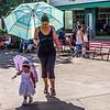 Umbrellas for sun protection.
