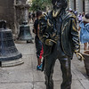 Monument to the Street Person adjacent to the old cathedral, Old Havana.  It is considered lucky to touch it