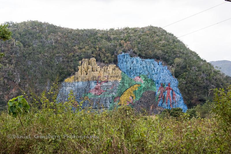 Mural de la Prehistoria in Viñales Valley, Cuba