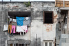Clothes hanging to dry in Havana, Cuba