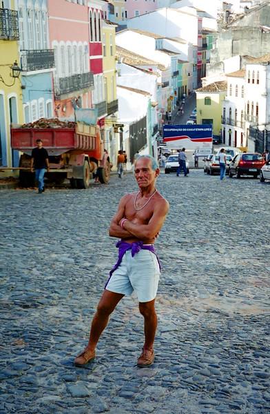 Man posing for photo - Salvador, Brazil, March 1999