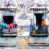 Clothes drying on balconies - Havana, Cuba, February 1999