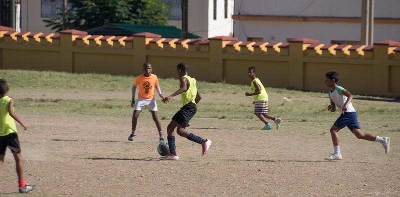 Kids soccer game, Santiago de Cuba