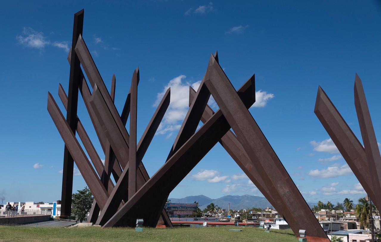 Machetes of the revolutionaries sculpture