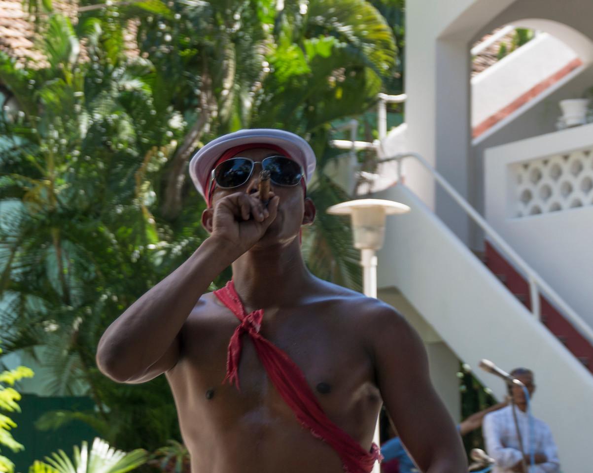 Dancer, African Heritage Institute, Santiago de Cuba, wearing Patrick's cap