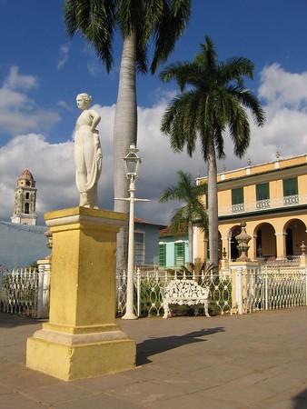 Town square in Trinidad, Cuba