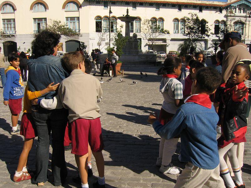City square gathering in Havana, Cuba