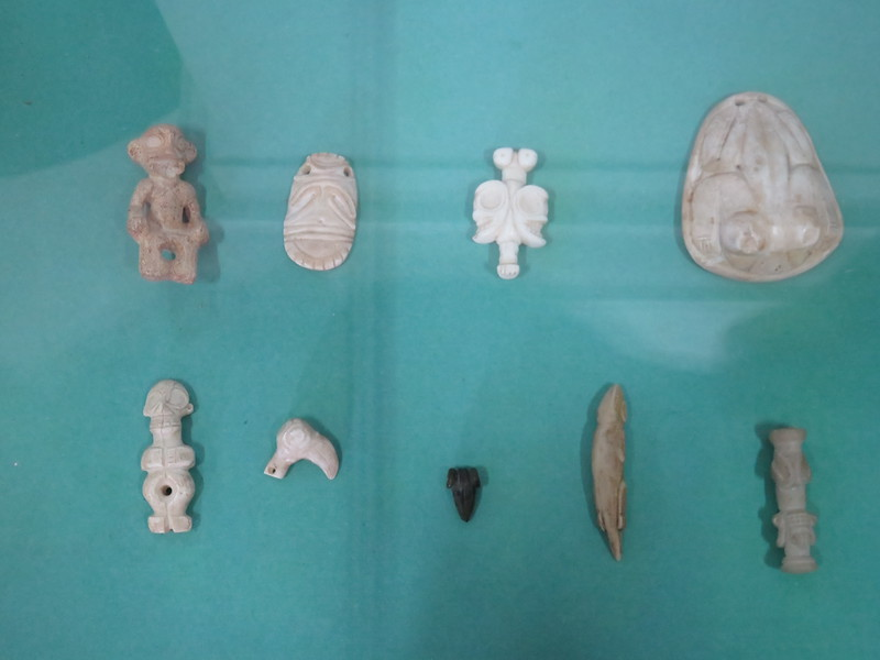 Taino figurines in the local museum.