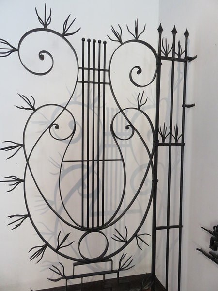 Decorative ironwork at a local art gallery.