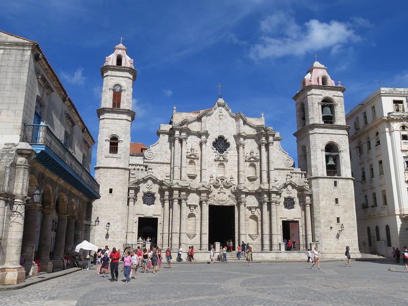 Cathedral square in Old Havana.