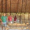 Inside one of the reconstructed Taino dwellings.