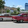 Old American cars in Holguin.  In Havana, most of the old cars are used as taxis for tourists, but in Holguin, they are still in general use.