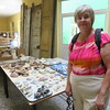 Susan at the Archaeological Museum of the City Historian, where they are reconstructing finds from a shipwreck in Havana harbor.