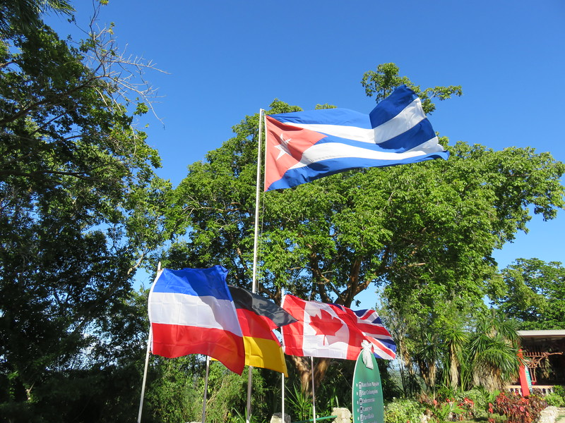 Cuban flag at our first night stay in Holguin province in eastern Cuba, where the bulk of archaeological remains have been found.
