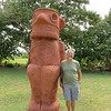 Dick by his favorite reconstructed Taino monuments.