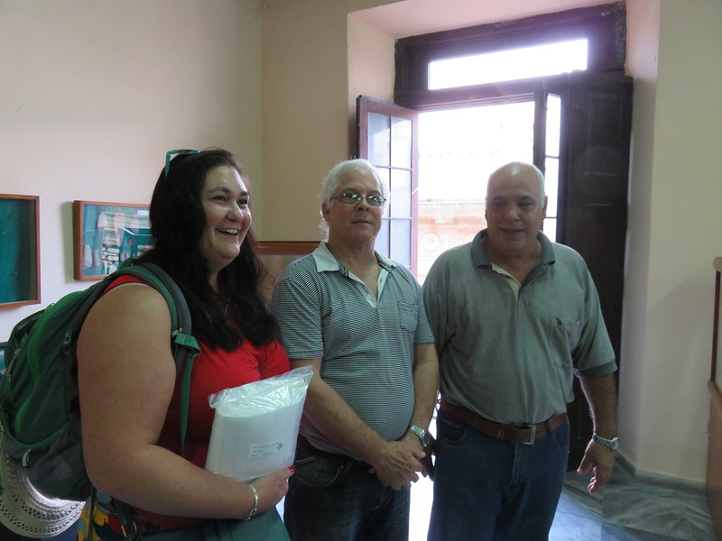Our Tour Guide, Dr. Brooke Persons, from the University of Alabama, with two well known Cuban archaeologists.
