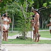 Re-enactors demonstating Taino costumes and rituals.