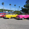 More old cars by the Havana harbor.