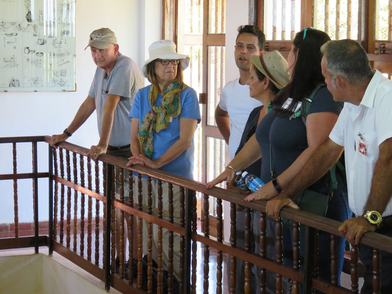 At our first site with one of the archaeologists who excavated there.