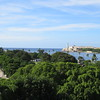 View of the entrance to Havana harbor and site of Old Havana.