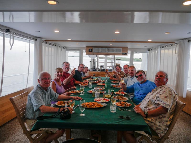 Farewell dinner, Avalon II, Gardens of the Queen, Cuba Fishing Trip 2016