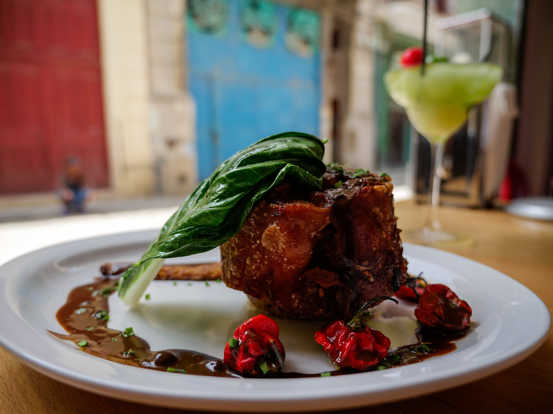 Suckling Pig, Lamparilla Tapas & Cervezas, Old Havana, Cuba, June 11, 2016.
