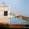 Blue wall, white door, Trinidad