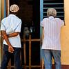Men watching soap, Trinidad