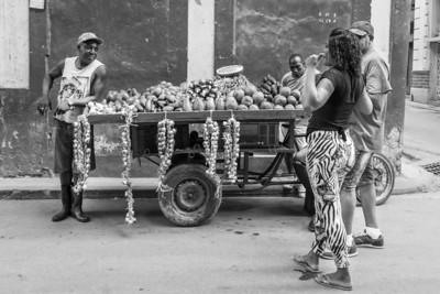 neighbourhood fruit and veg stall, Havana