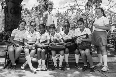 School girls in Cienfuegos