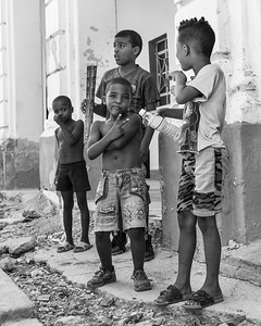 Kids playing after school, Havana