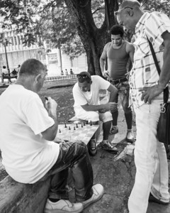 Street chess, played everywhere  in Cuba