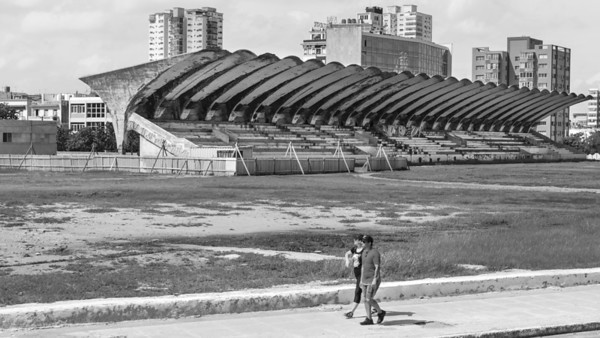 Sports stadium in need of a lick of paint